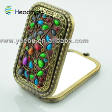 bathroom mirror tv 2012 hot selling ladies small cheap gift single promotion square cosmetic mirror