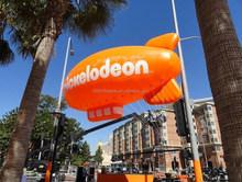 OEM customized 5mL orange inflatable helium blimp