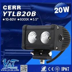 Off Road Vehicle Top Light 20W Straight LED Light Bar