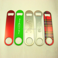 round bottle opener with customized bar blade