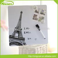 Writing paper custom fashion magnetic whiteboard stick on fridge