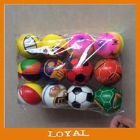 7.2cm Custom Pu Foam Anti Stress Ball toy ball mini pu foam balls for promotion