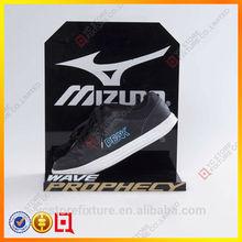 negro hoja de acrílico para los zapatos con el logotipo de