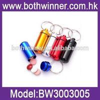 TR033 waterproof aluminum medicine pill container bottle case keychain holder portable