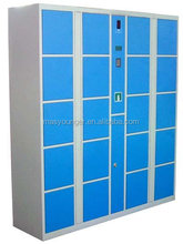 customized colorful digital lock power coated changing room gym used /bedroom wardrobe