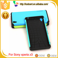 Factory price cell phone PC TPU back shockproof armor case for sony xperia z3
