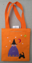 Hot sale halloween candy bag small felt candy bags for kids