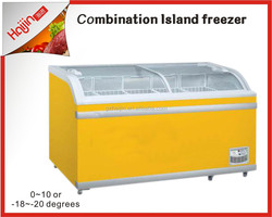Environmental protection with commercial island refrigerator