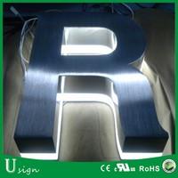 High brightness illuminated lighted metal stainless steel LED alphabet letters
