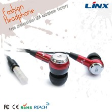 Fashion cheap rope braided cable earphone for mp3