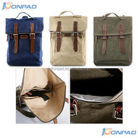 Fashion leather canvas backpack with comfort design