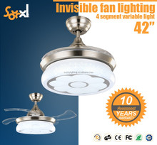 LED Invisible ceiling fan with light