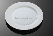 Flat hotel with porcelain with gold plating line