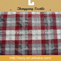 Check woven cotton yarn dyed poplin fabric wholesale