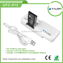 hot sale nice looking aa battery charger for mobile phone and digital camera charger