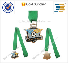 High quality China factory direct distributor cheap customized zinc alloy football medal medallion