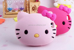 soft silicon case for Apple iPhone 6 4.7 Inch 5 5s Hello Kitty Big Head Case Cover Soft Silicon 3D Cute Cartoon Case with Chain