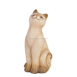Cat look up at sky for home outdoor decoration cement cat
