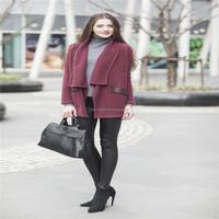 100% pure cashmere sweater women wine colour open cardigan