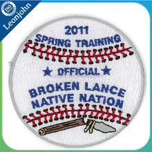 Apliques cresta soccer jersey bordado parche para la primavera de entrenamiento