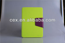 For iPad Mini Green Wallet PU Leather Card Holder Magnetic Flip Stand Case