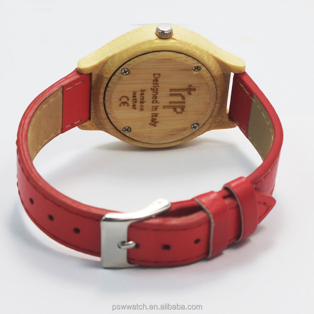 2015 new product wooden watches leather wood watch bamboo wooden watch
