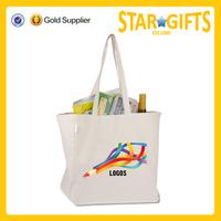Alibaba China custom blank standard size cotton grocery bag