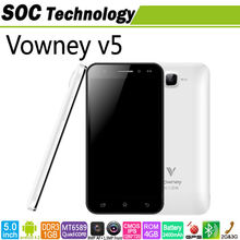 Android 4.2 Quad Core MTK6589 1.2GHz 5 inch Vowney V5 IPS 1280*720 pixel 8MP camera 1GB RAM 4GB ROM Bluetooth GPS