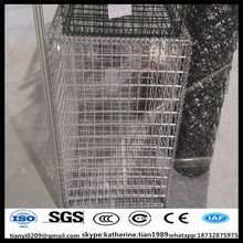 galvanzied Rock Filled Welded Gabion Netting baskets for construction and decoration