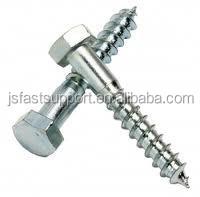 Galvanizado DIN571 cabeza hexagonal tornillo de madera / HEX / soporte / entrenador de tornillo