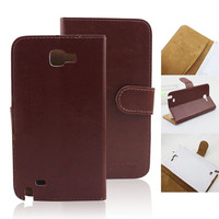 Elegant Leather Flip Wallet Case Cover For Samsung Galaxy Note I9220