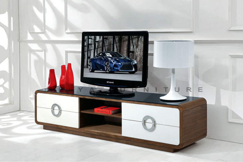 Lcd Stand Designs : Wooden lcd rack design corner tv table furniture view