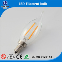 UL Listed LED filament bulb for America market home lighting C35 A19 ST64 120V