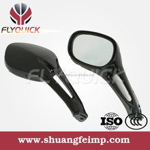 FLYQUICK glass for rear view,black motorcycle motorbike racing bike side mirror with light for mirror for HAOJUE UA150T HS125T
