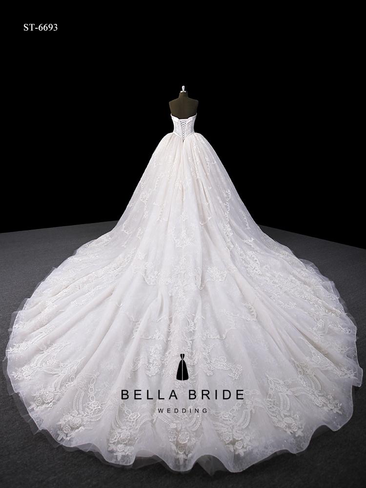 Descrição detalhada de vestidos de casamento do vestido de casamento handmade profissional de Guangzhou fabricante