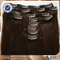 Best quality remy 24 26 30 inch human hair extensions clip in