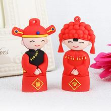 bulk New Flash wedding The bride and groom USB flash Drive Cartoon Funny 64GB For Computer