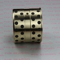 Customized soild lubricant graphite oilite bronze bushing