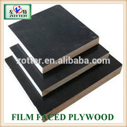 Two times 12mm/15mm 18mm brown/ black film faced plywood, phenolic film faced plywood prices, construction plywood for buildin