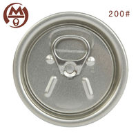 200# partial open easy open peel off end aluminum beverage can cover