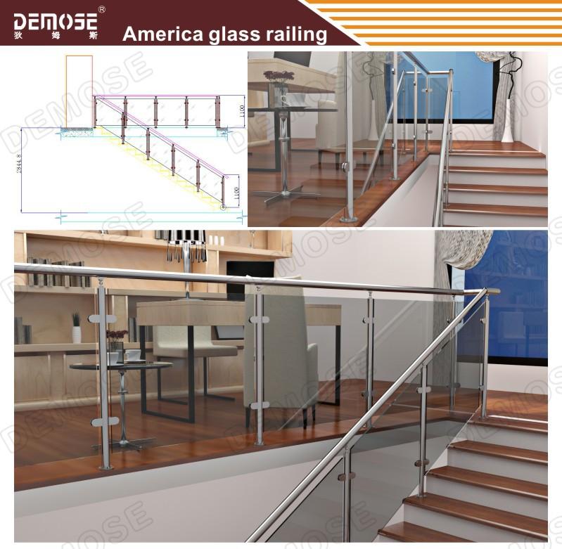 maisons pr fabriqu es int rieure verre escalier de bois prix de grilles rampes et mains. Black Bedroom Furniture Sets. Home Design Ideas