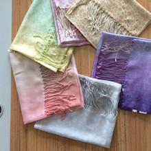 50% silk 50% wool OEM silk brand handkerchief