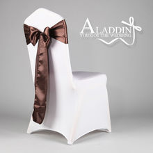 direct selling factory price wedding chair cover and satin chair sash