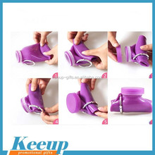 BPA free high quality water bottle ,Light Portable Silicone Foldable Water Bottle Sport Products