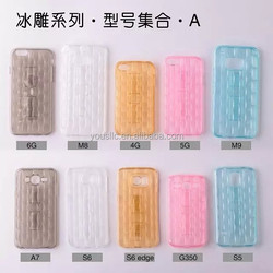 New Soft Clear TPU Gel Silicone Case for Iphone 5s with Stand