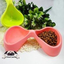 The Butterfly Unique Design Funny Double Diner Pet Bowl