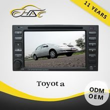 For toyota universal double din auto radio car dvd with gps tv ipod