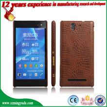 China Factory Cell Phone Case PU Luxury Leather Case For Sony Xperia C3