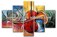 Decorative High quality hand-painted abstract group oil painting Modern wall art music theme painting