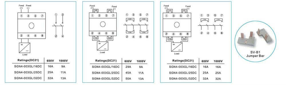 Wiring Diagram Rotary Isolator Switch : Saip saipwell quick offer ip v a dc isolator switch